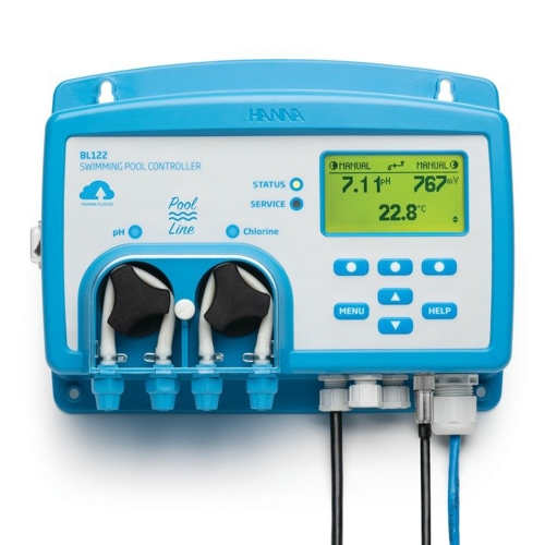 Pool Line Cloud Enabled Swimming Pool controller with Built-in Dosing Pumps