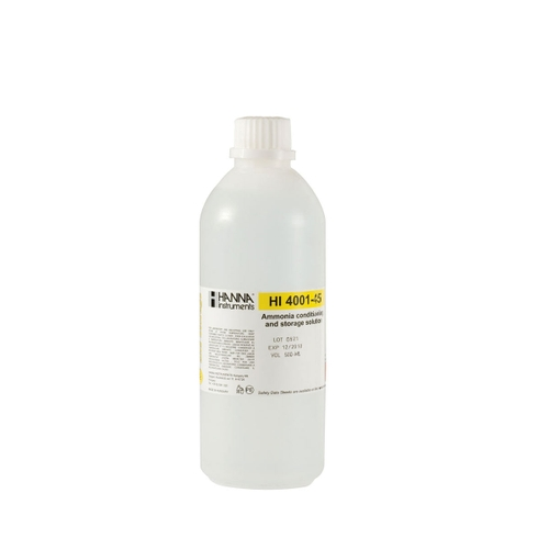 HI4001-45 Ammonia ISE Conditioning and Storage Solution (500 mL)