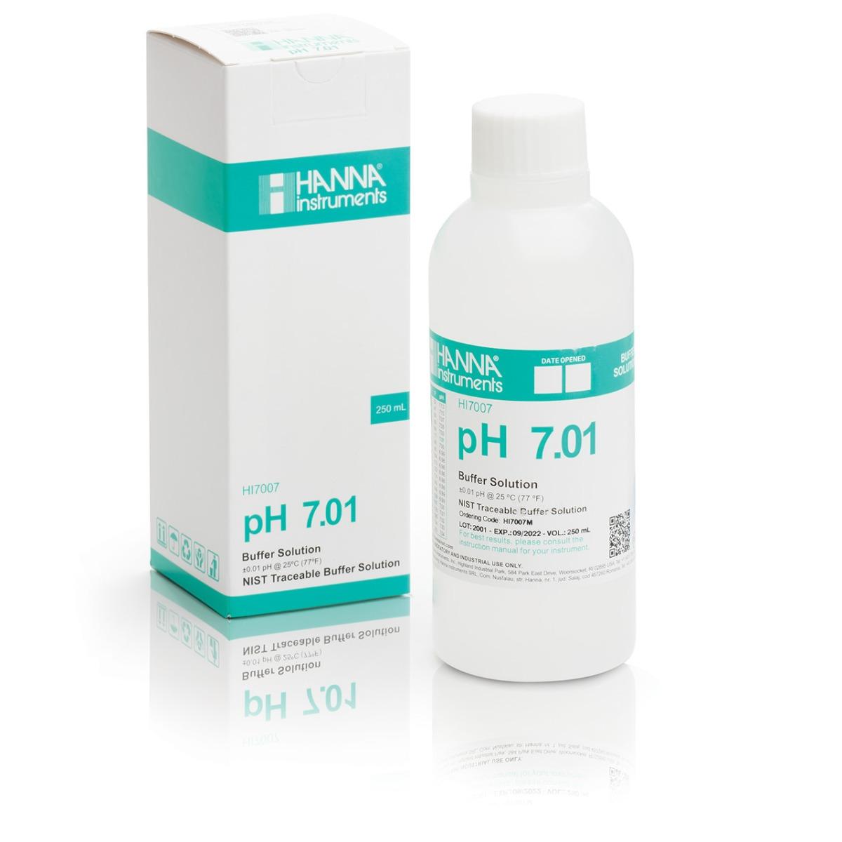 HI7007M pH 7.01 Calibration Solution (230 mL)