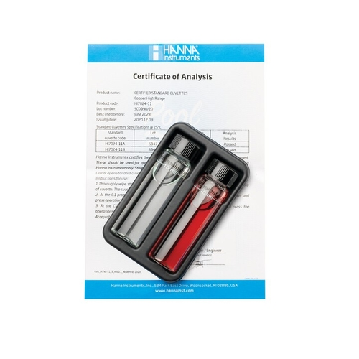 Pool Line High Range Copper Checker HC Calibration Check Set - HI7024-11