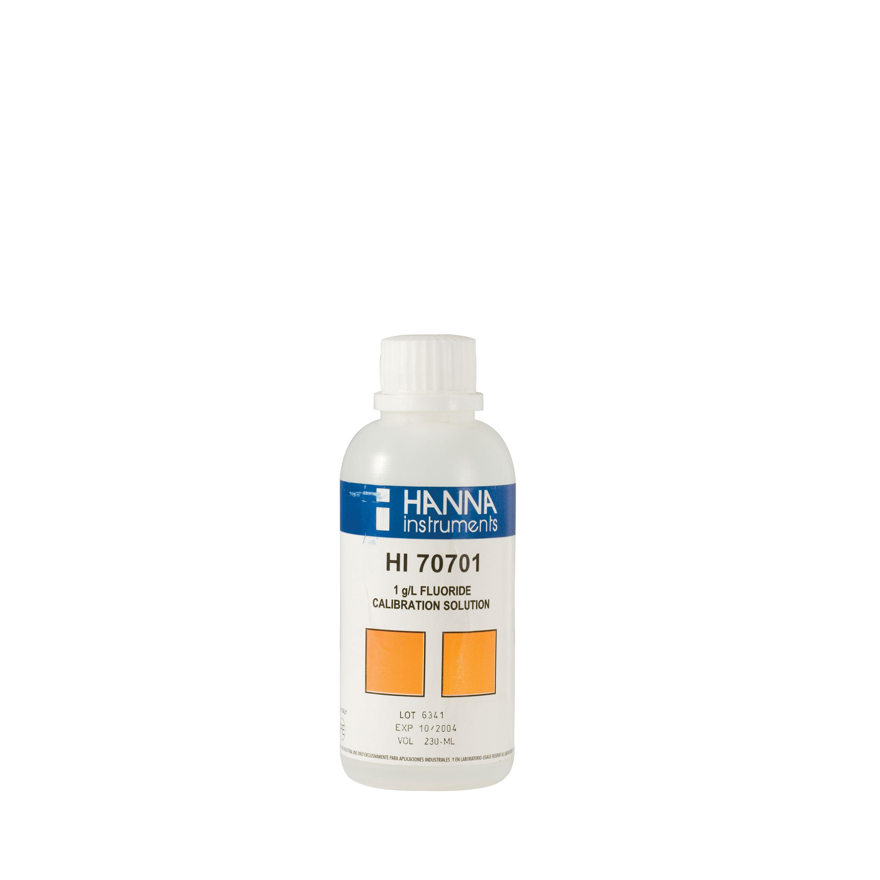 HI70701M Fluoride Standard Solution 1 g/L (230 mL)