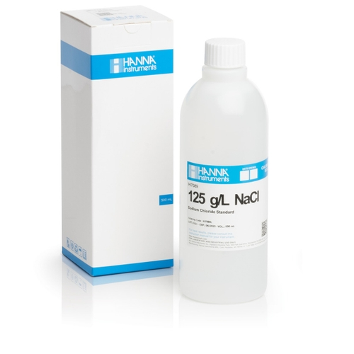 HI7089L Standard Solution at 125 g/L NaCl (500 mL) bottle