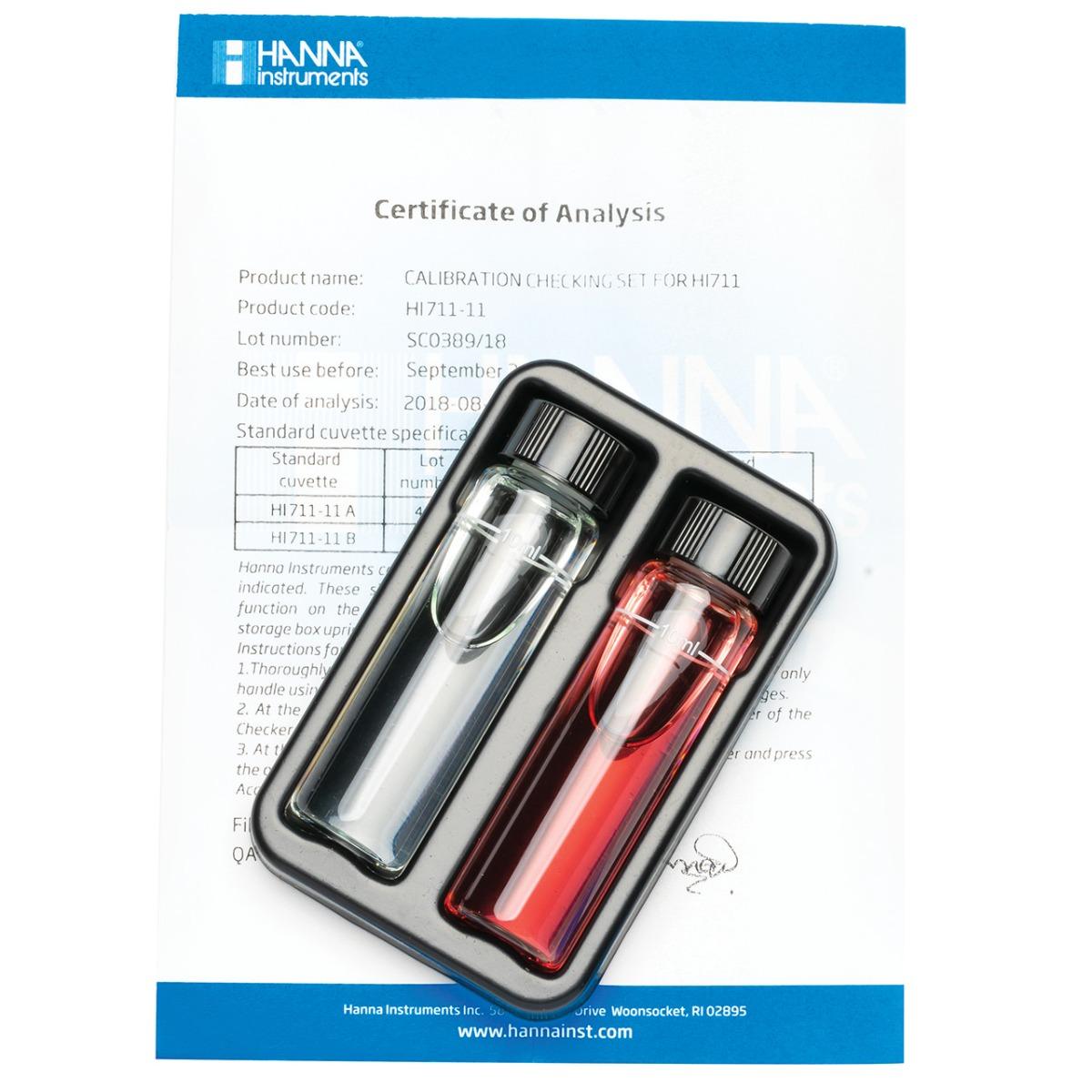 HI711-11 Total Chlorine Checker®HC Calibration Set