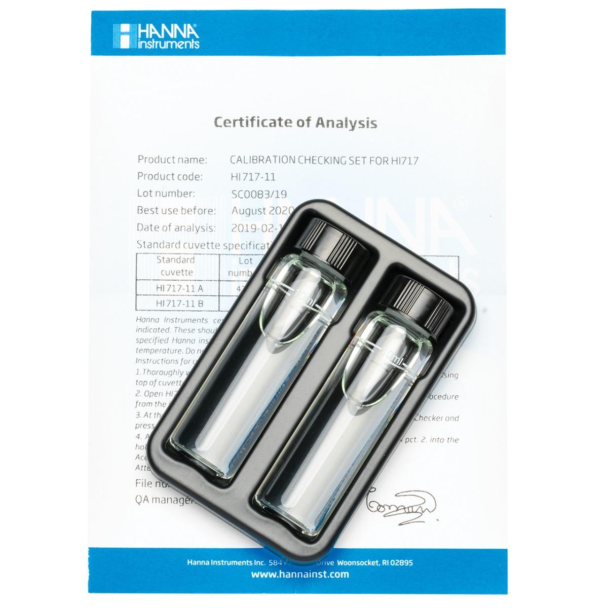 HI717-11 Phosphate High Range Checker®HC Calibration Set