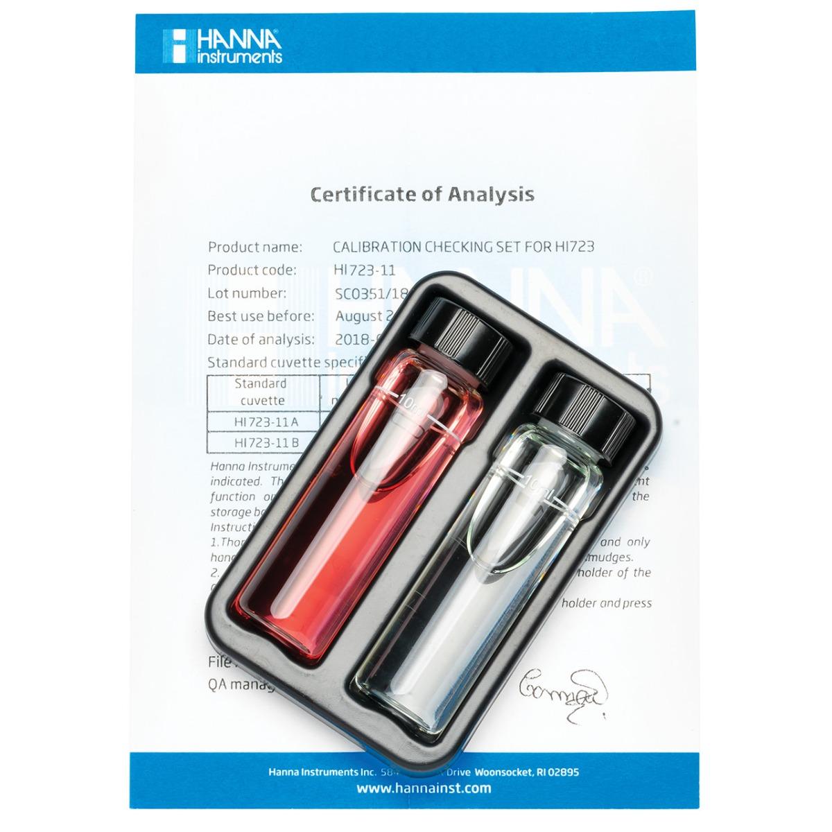 HI723-11 Chromium VI High Range Checker® HC Calibration Set