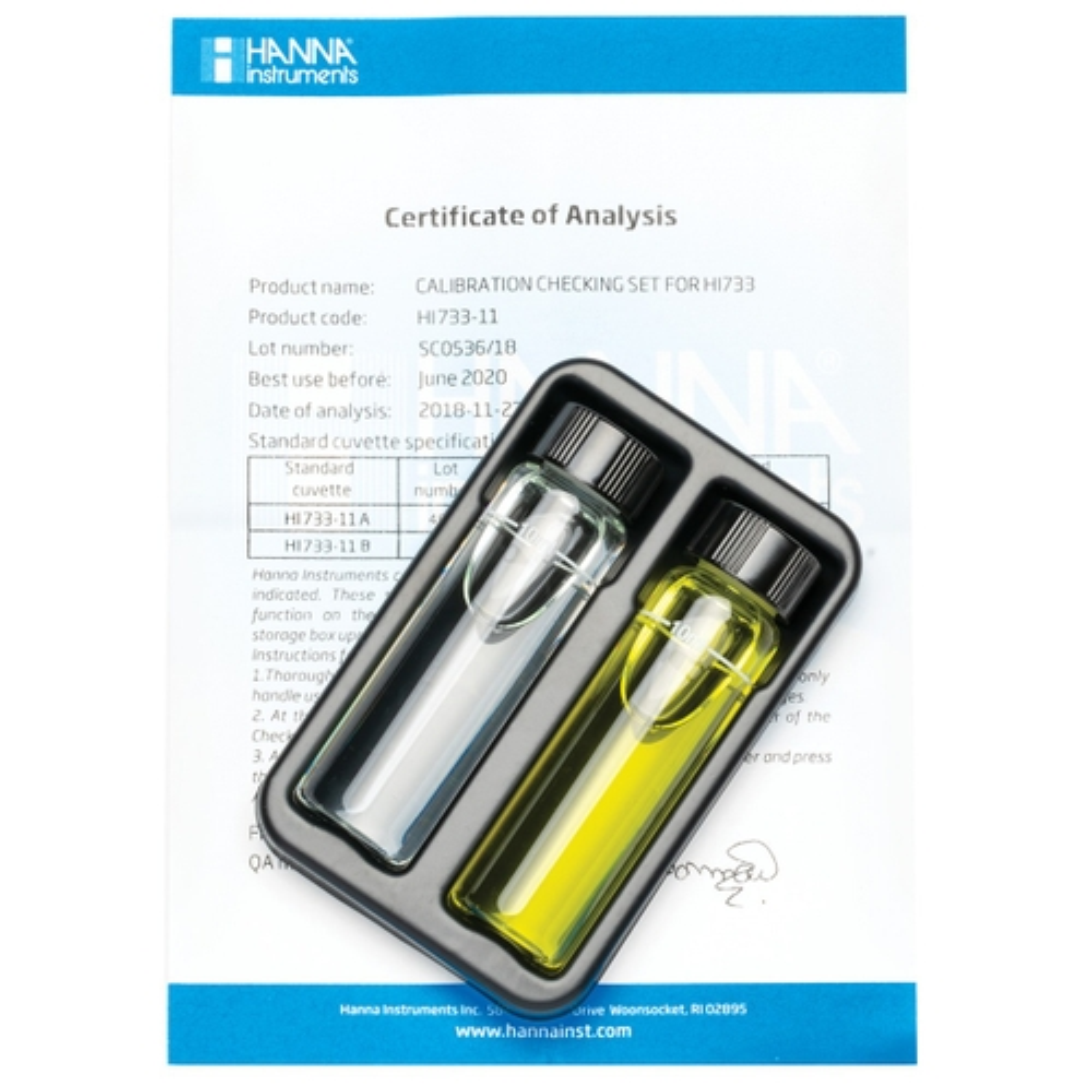 HI733-11 Ammonia High Range Checker® HC Calibration Set