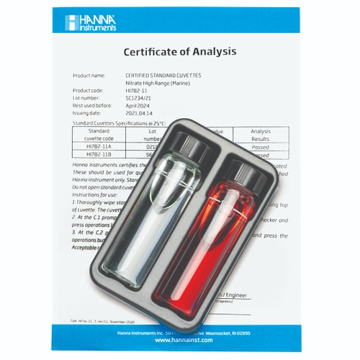 Marine Nitrate High Range Checker HC Calibration Check Set - HI782-11