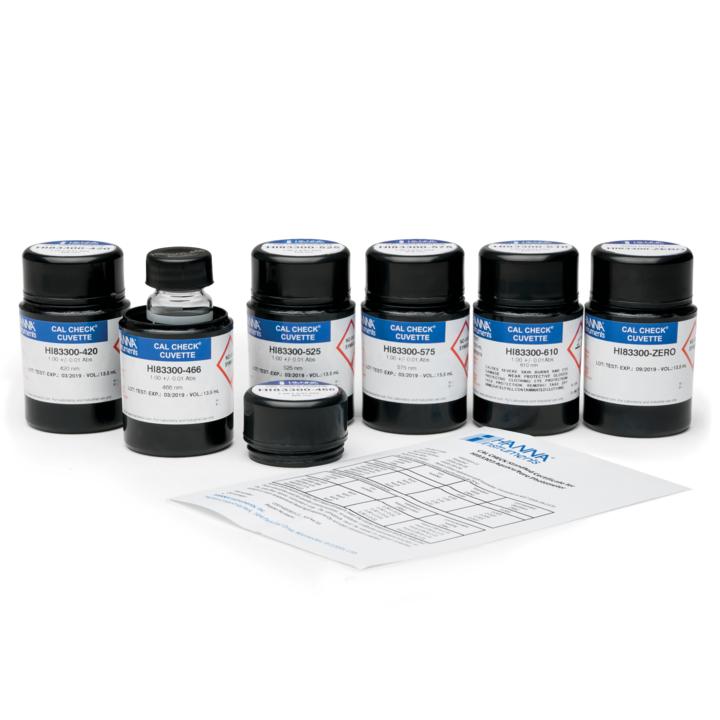 HI83303-11 CAL CheckTM Cuvette Kit for HI83303 Aquaculture Photometer