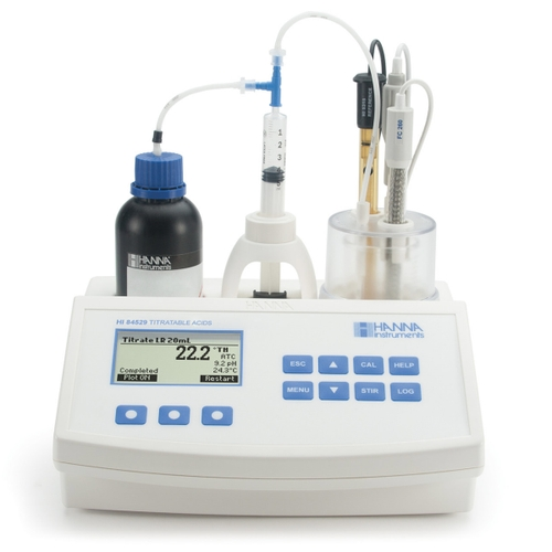 HI84529 Titratable Acidity Mini Titrator for Dairy Analysis
