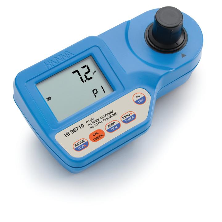Fotometro portatile per l'analisi di pH e cloro libero/totale - HI96710