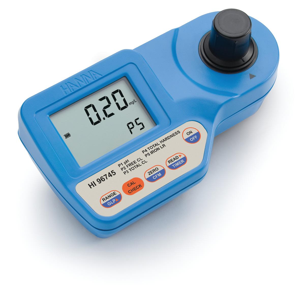 Fotometro per analisi pH, Durezza totale, Ferro, Cloro libero e totale per caldaie