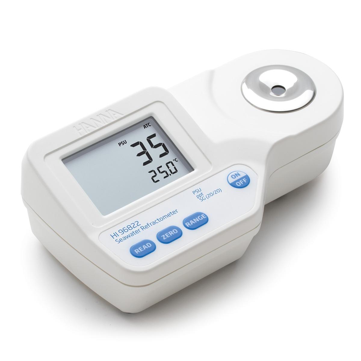 HI96822 Digital Refractometer for Natural or Artificial Seawater Analysis