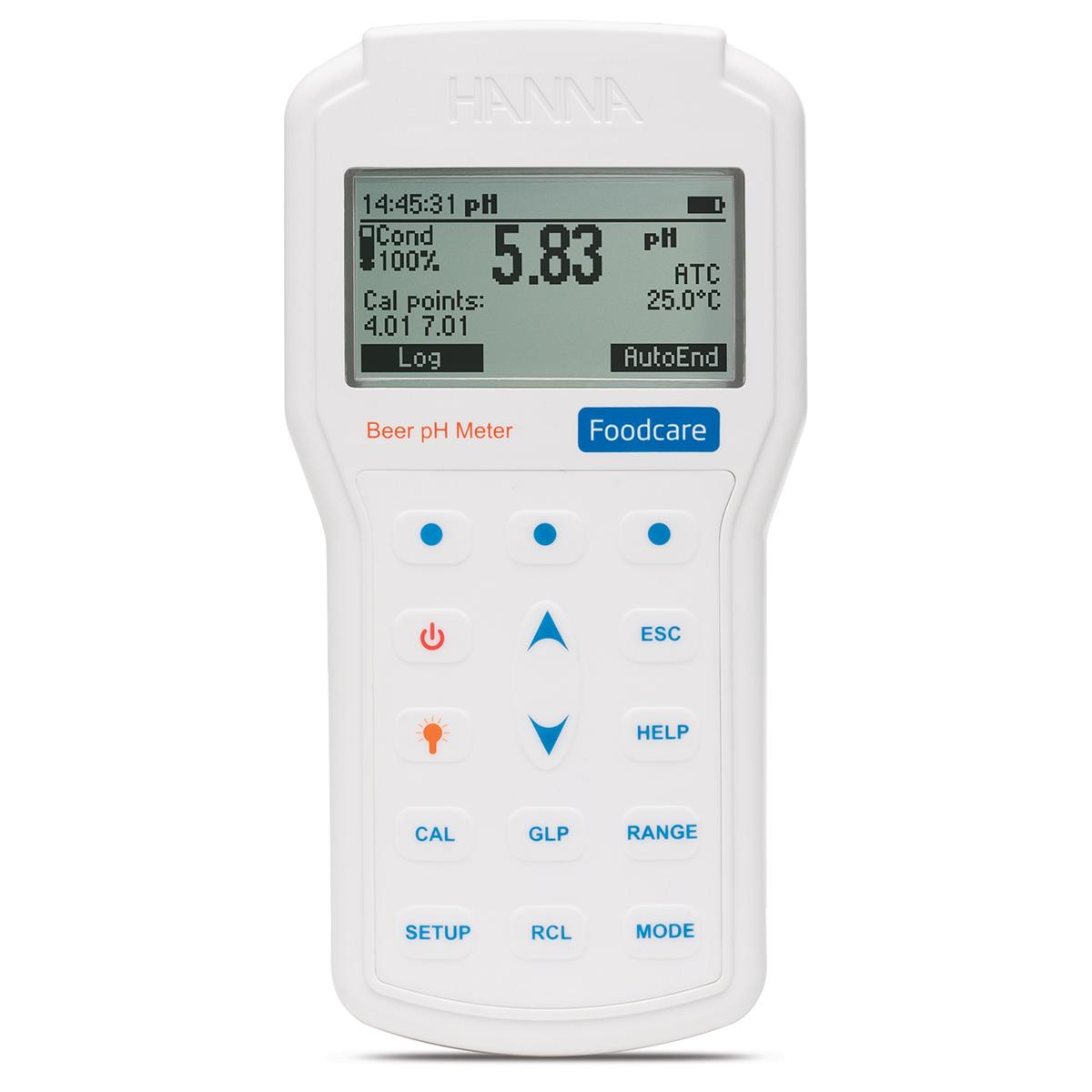 Professional Portable Beer pH Meter - HI98167