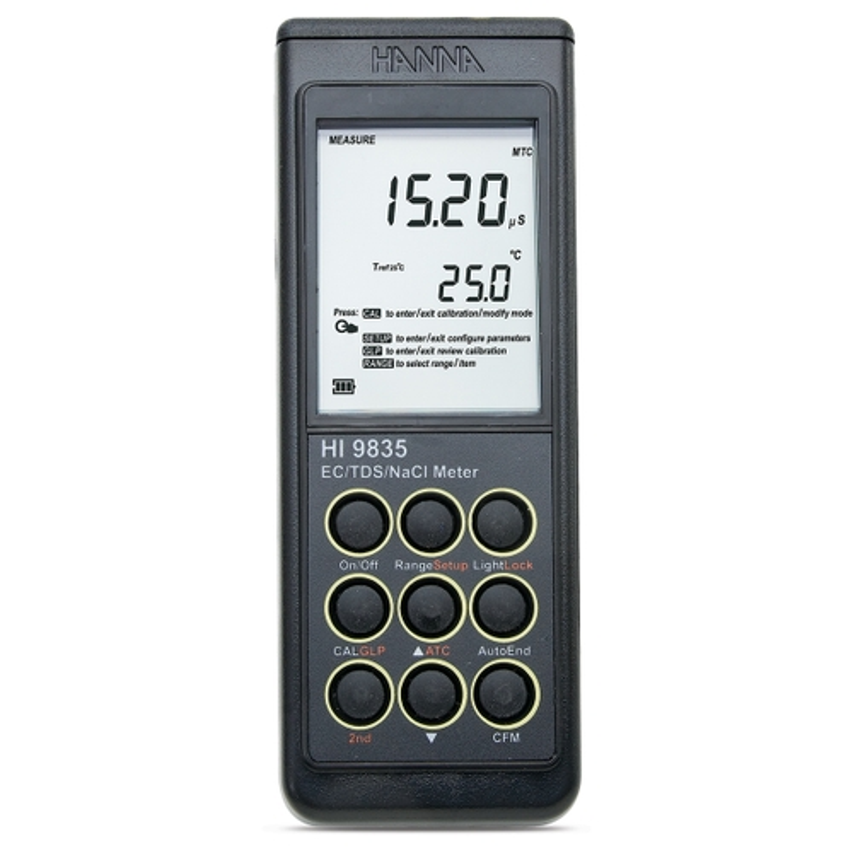 HI9835 EC/TDS/NaCl/°C Portable Meter