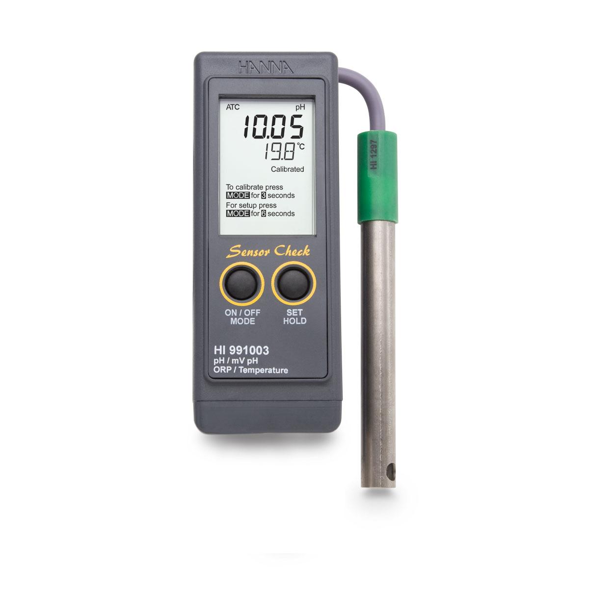 HI991003P pH/pH-mV/ORP/Temperature Meter with Sensor Check™
