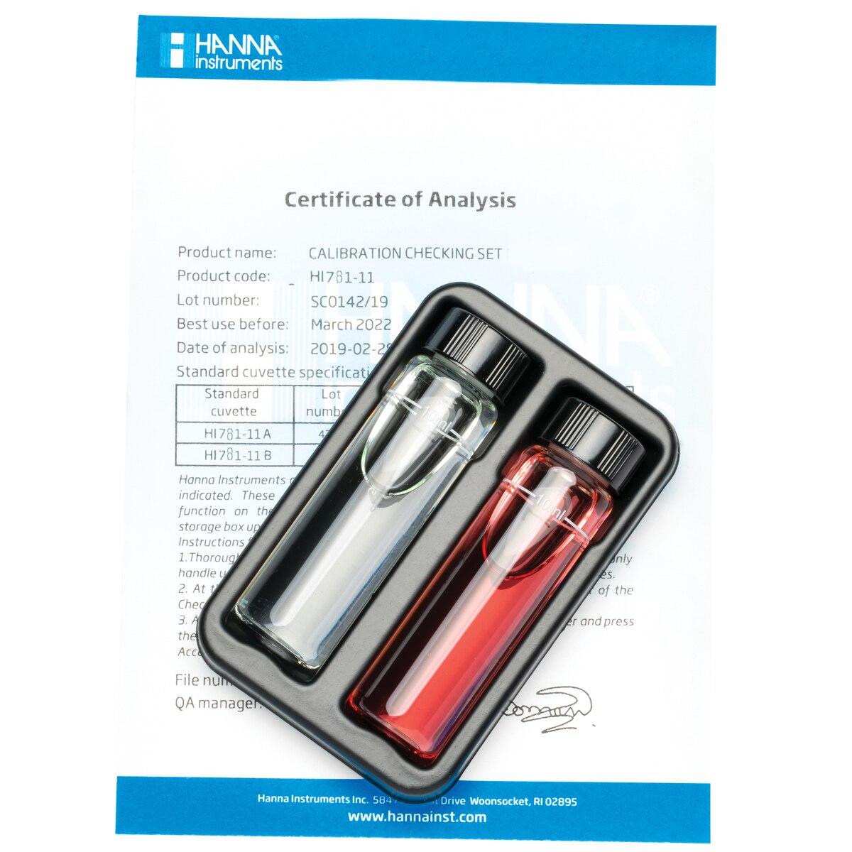 Marine Nitrate Low Range Checker® HC Calibration Check Set - HI781-11