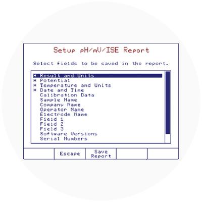Customizable analysis reports